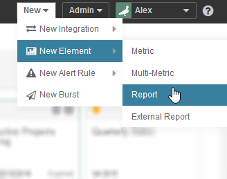 Add a new element - an example for Report