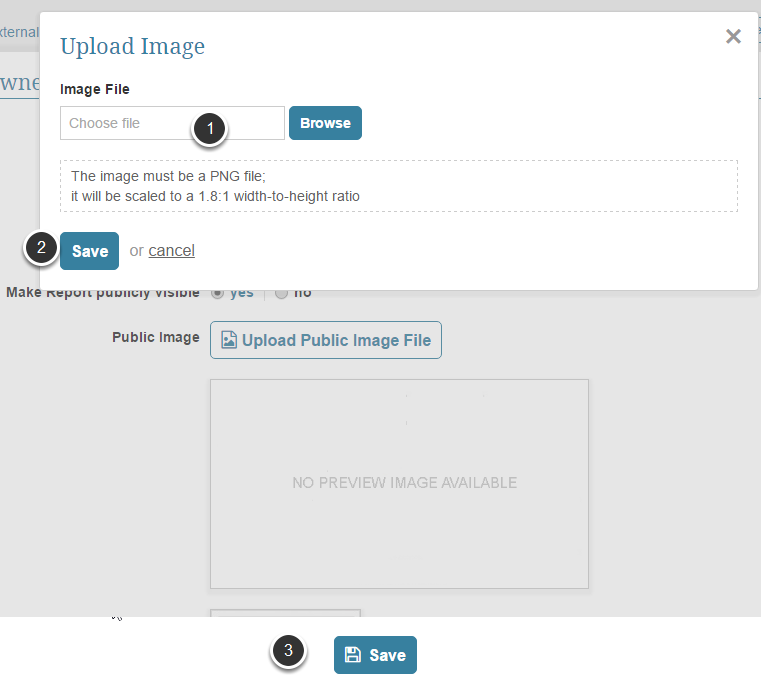 Pop-up will ask you to upload a static image