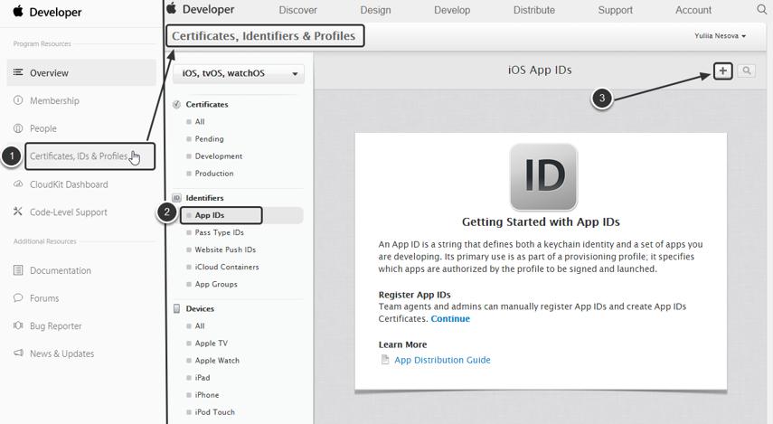 Create a new 'Metric Insights' App ID