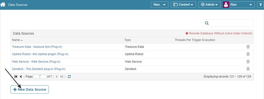 Access Admin > Data Sources
