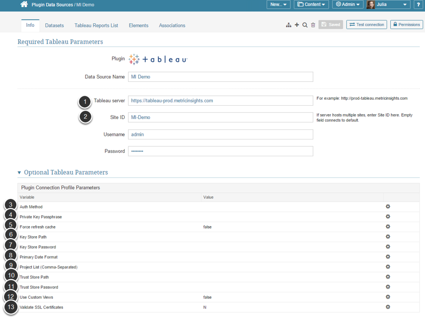 Plugin Data Source Editor