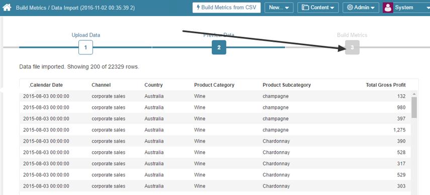 Result of CSV import