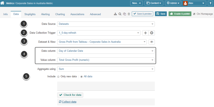 [Data tab] Check Data Collection Configuration