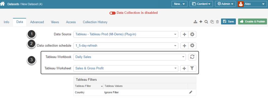 [Data tab] Configure data collection