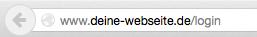 """Lösung: Gib in der Browserleiste """"/login"""" hinter Deine Domain ein."""