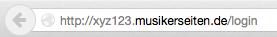Dies funktioniert natürlich auch, wenn Du noch in der Testphase bist und noch keine eigene Domain hast: