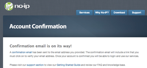 Email Confirmation Will be Sent