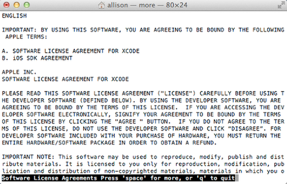 Start Hitting the Space Bar to Scroll Through the EULA - A LOT of Times