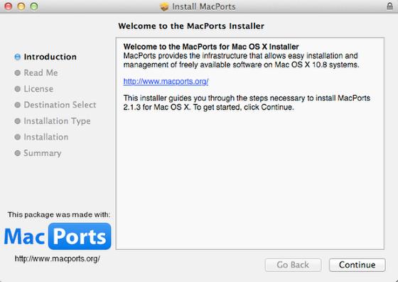 Install MacPorts