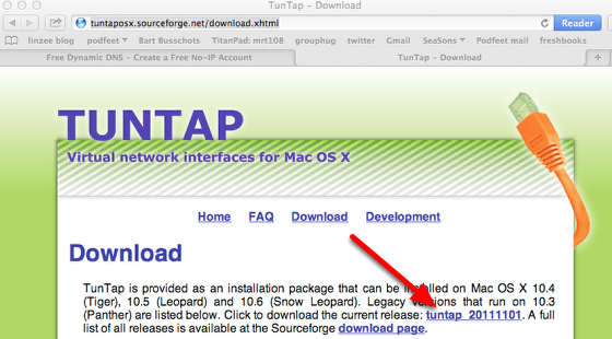 Download the Tuntap Drivers