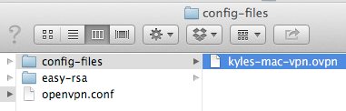 Finder Window Opens Showing config-files