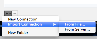 Select Import Connection From File...