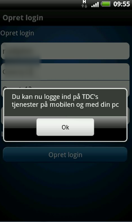 Hvis brugernavnet ikke allerede eksisterer, har du nu adgang til TDC Play på din mobil og via din PC