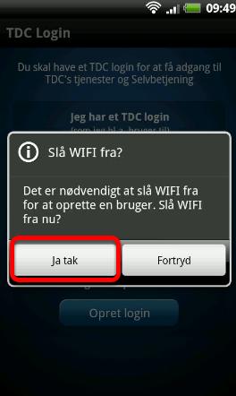 Hvis du er på Wi-Fi, skal det slås fra