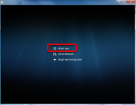 Endelig åbner Windows Media player og musikken kan afspilles