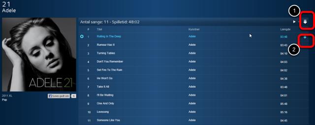 Listen med sangene kommer nu frem