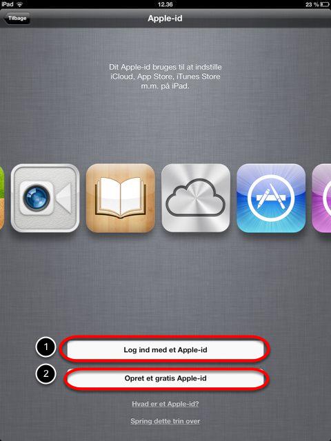 Du har brug for et Apple-id
