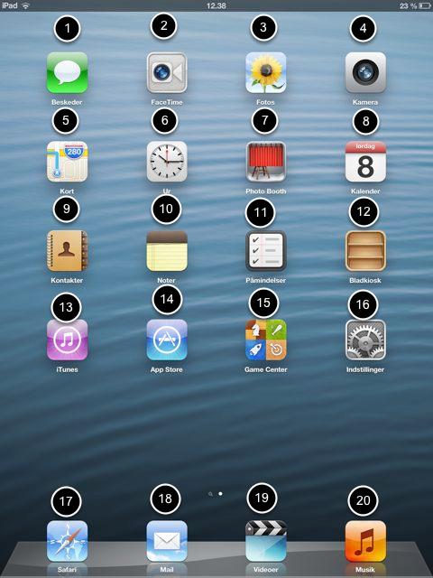 De apps der følger med enhver iPad