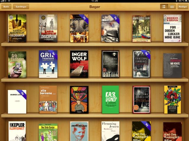 Apples medfølgende e-bogs læser iBooks