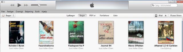 Bøgerne ligger nu på iPad'en:
