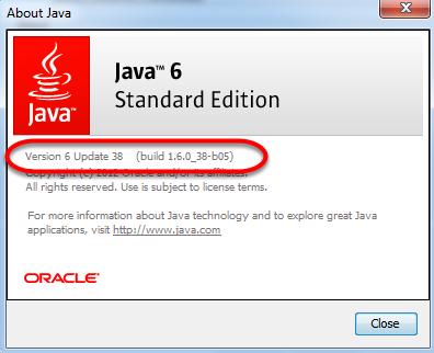 Du kan nu se hvilken version af Java der er installeret på din computer