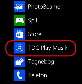 Når app'en er downloadet ligger den under programmer