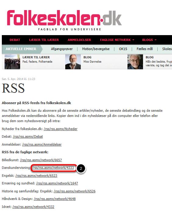 Find link hos folkeskolen.dk