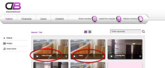 Kopi af din video