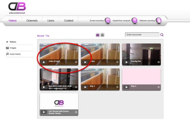 Du starter med at logge ind på video.phmetropol.dk