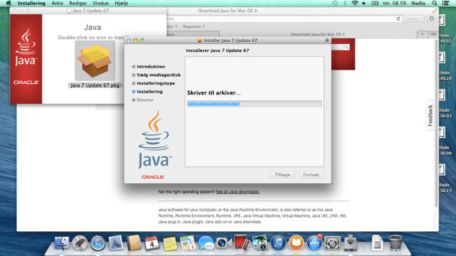 Java installeres