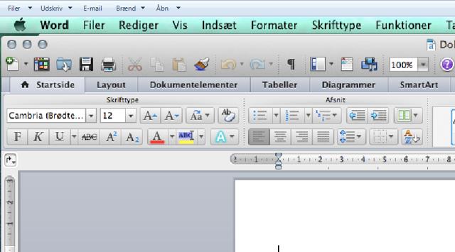 """Hvis værktøjslinien """"Write-N-Cite"""" ikke viser sig i Word"""