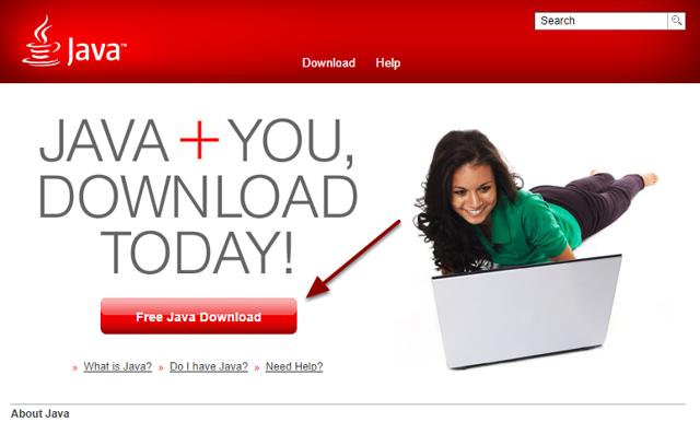 Gå til Java.com