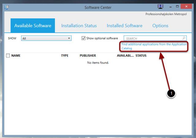 Software Center starter nu op