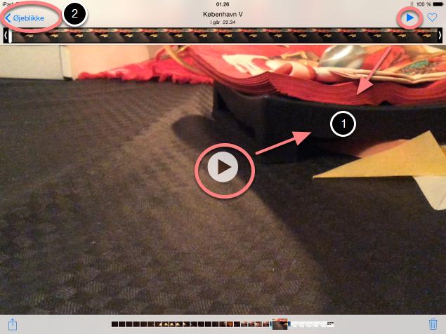 Sådan afspiller du din video