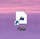 Du har nu en genvej til CRM4 liggende på skrivebordet