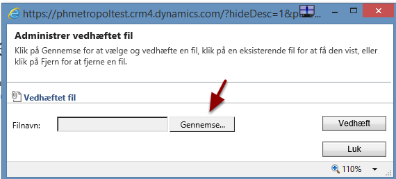 """Tryk på """"Gennemse..."""" for at finde den fil du vil uploade"""