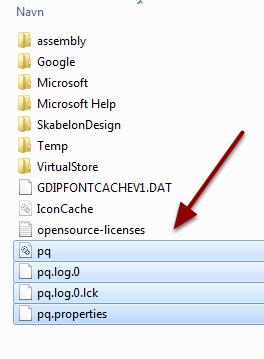 Fjern alle filer der begynder med enten wnc eller pq