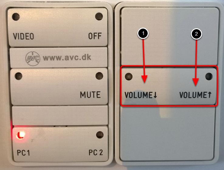 Find volumeknapperne på panelet