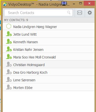 Nu er kontakten fjernet fra din liste over kontaktpersoner