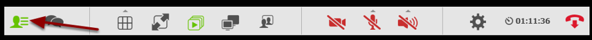 Slå listen fra igen ved at klikke på ikonet fra før - det er nu klart grønt for at vise at det er aktivt.