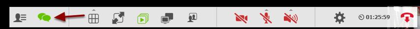 For at slå visning fra igen, klikker du igen på de 2 talebobler - de er nu grønne for at vise at de er aktive