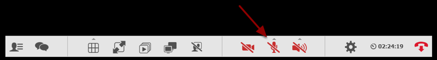 Klik på mikrofon-ikonet for at tænde for din mikrofon