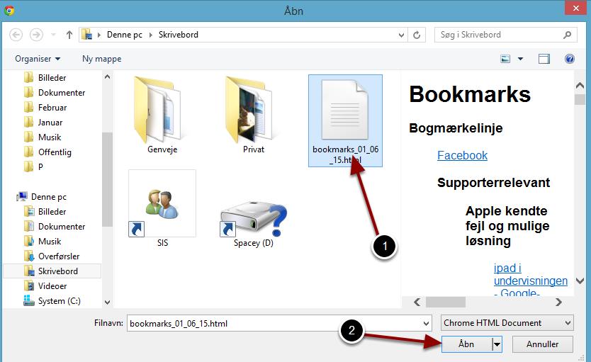 Vælg din backup-fil