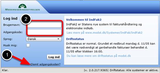 Du bliver nu sendt videre til startsiden; indfak2.dk.