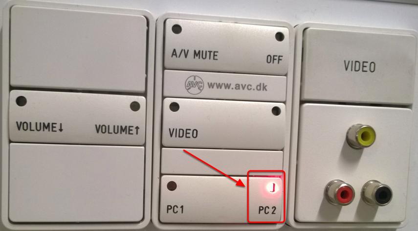 """Vælg nu """"PC2"""" på panelet"""