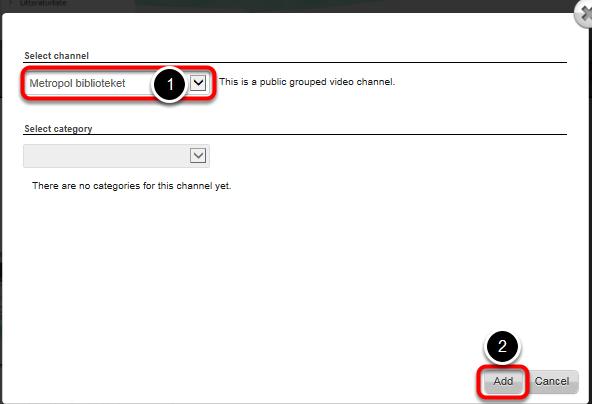 Vælg nu hvilken kanal du vil uploade videoen til