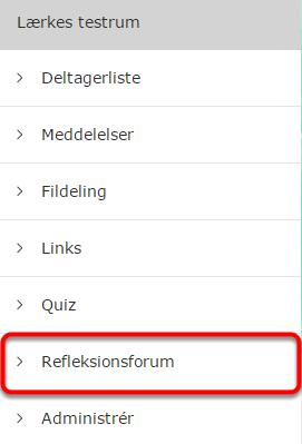 Du har nu oprettet et refleksionsforum i din brugergruppe