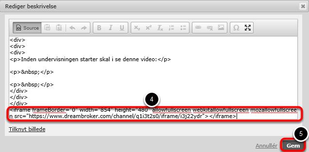 Nu ændrer teksten sig til html kode