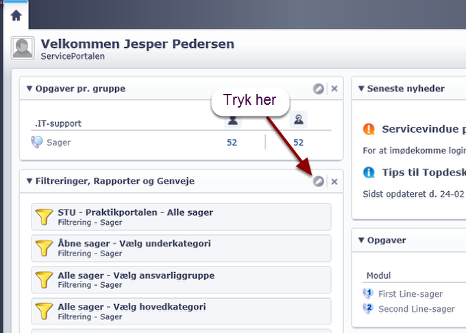 Gå ind på servicedesk.phmetropol.dk