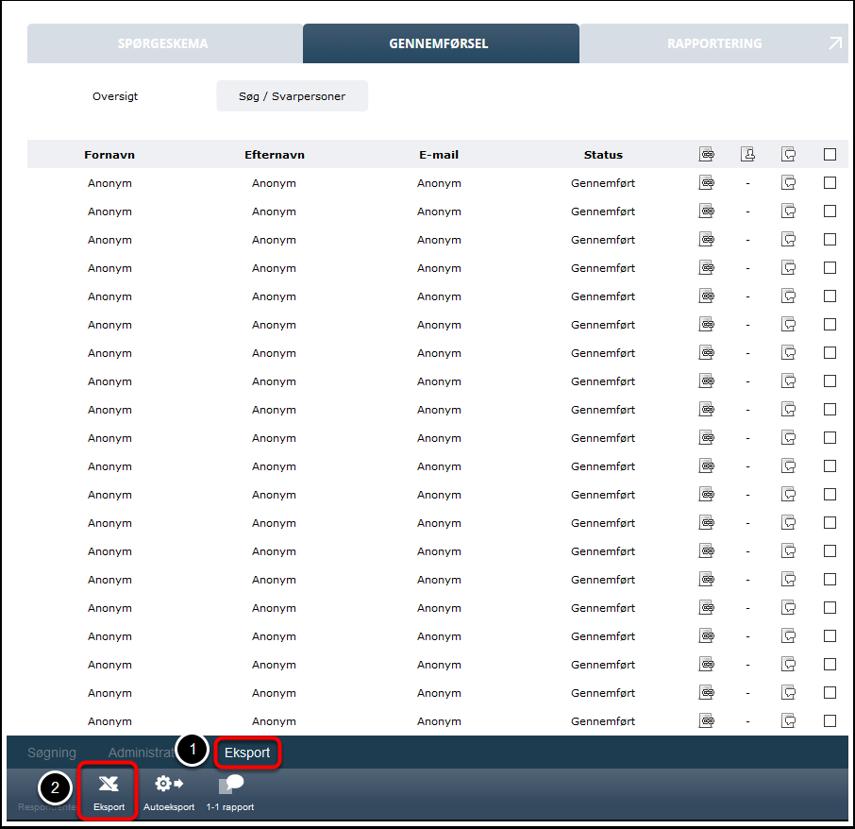 Eksporter din måling til Excel - Step 3